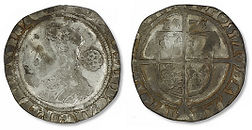 Elizabeth I Sixpence - Mark 1 - Small (1