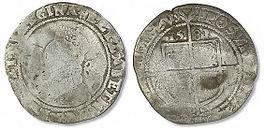 Elizabeth I Sixpence - Mark 1 - Small (3