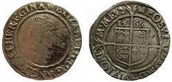1566 Elizabeth I Sixpence - Richie-small