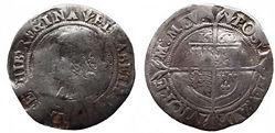1563 Elizabeth I Sixpence - Richie-small