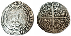 Henry VII Halfgroat Canterbury mint - To