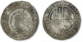 Elizabeth I Sixpence - Mark 1 - Small (4
