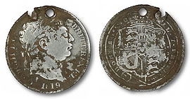 George III Shilling Contemporary Forgery