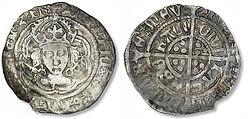 Henry VII Half Groat - AB Savage - York