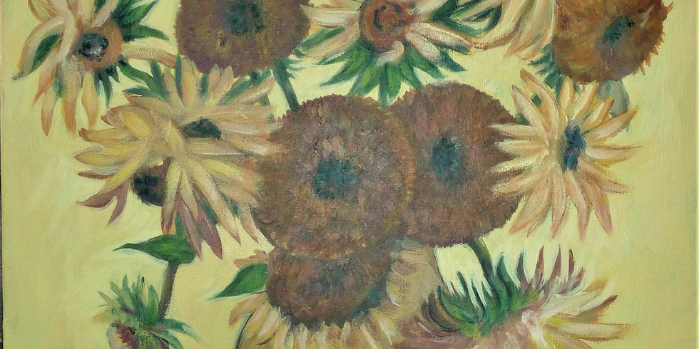 Sunflowers - a symphony of yellow - inspired by Van Gogh's Fourteen Sunflowers in a Vase