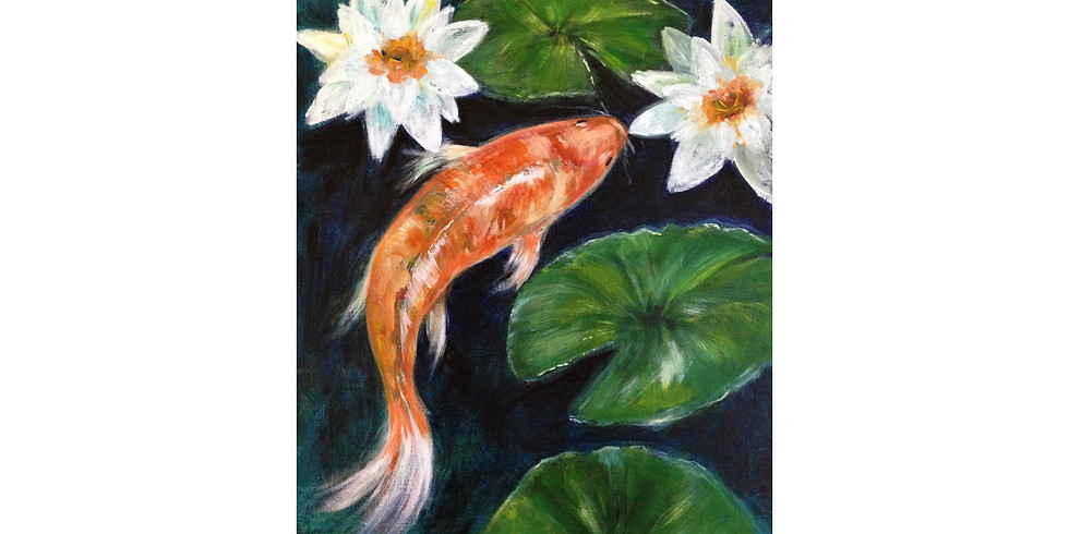 Koi and Water Lilies