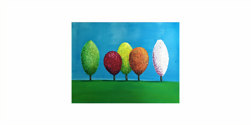 Start a passion for painting. Lollipop Trees.