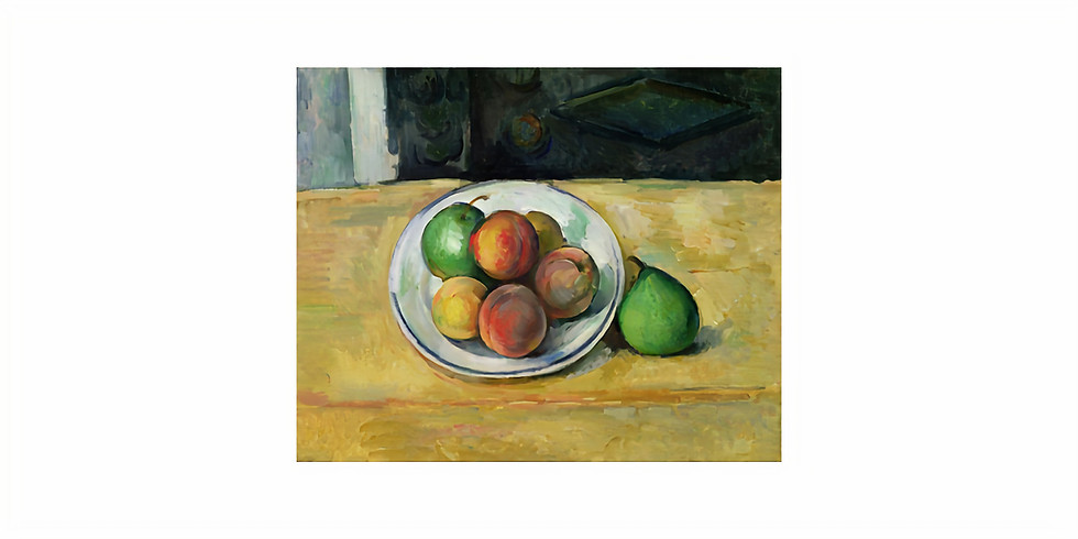 Paint it like Cezanne - Still life. Peaches and Pears