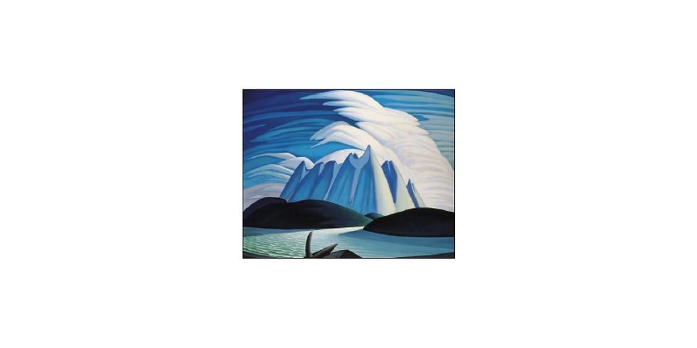 Paint it like Lawren Harris Lake & Mountains