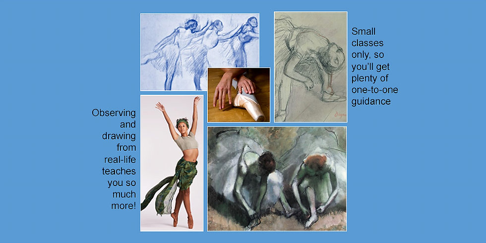 Life drawing classes - 4 week mini course - a closer look at Degas