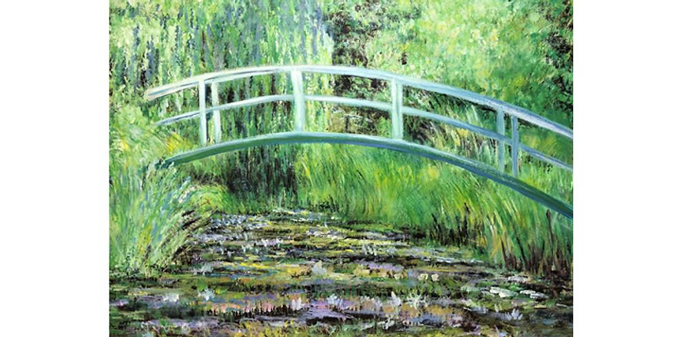 Art & THRIVE - Paint it like Monet - Waterlilies & Japanese Bridge
