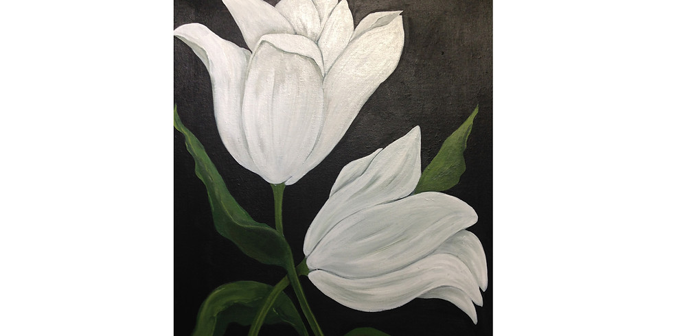 The Beautiful Tulip - A Symphony in White