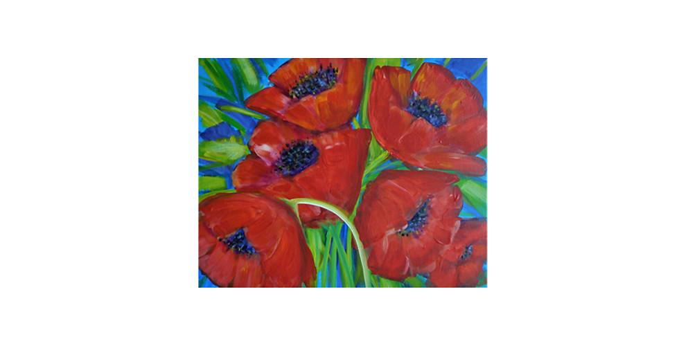 Art & THRIVE - Poppies