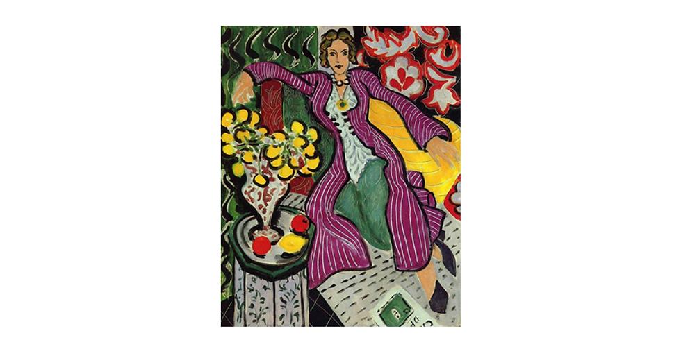 Paint it like Matisse - Woman in a purple coat