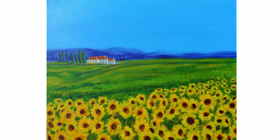 Blue skies and sunflowers