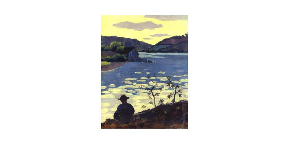 Paint it like Paul Serusier Fisherman on the river Laita