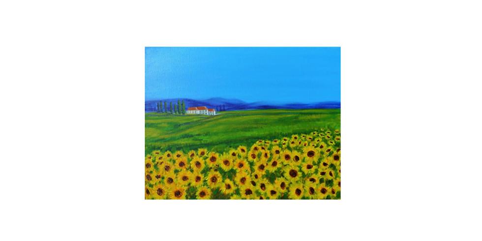 Art & THRIVE - Blue skies and sunflowers