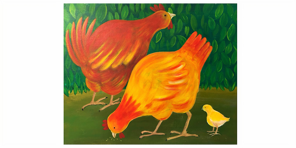 Art & THRIVE - Chickens!