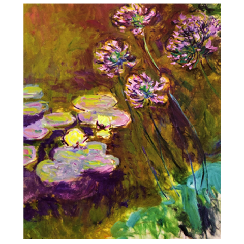 Paint it like Monet - Water Lilies & Agapanthus