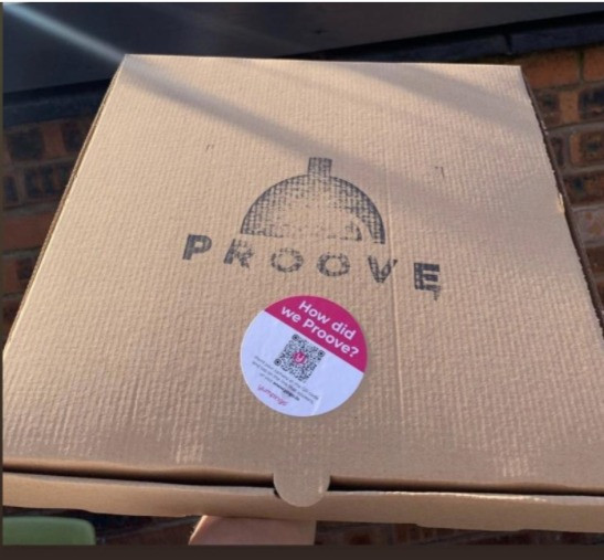 Proove Pizza takeaway box