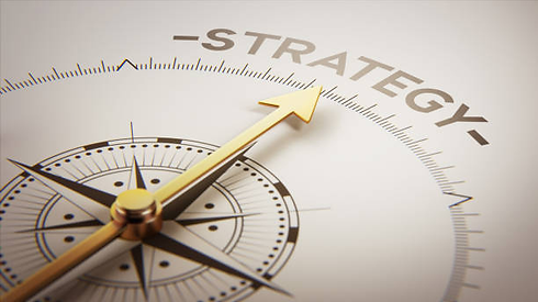 Arrow pointing to word strategy