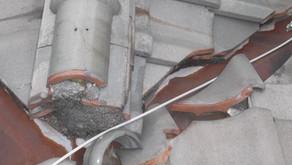 台風と経年劣化で、屋根瓦がボロボロ! 大阪府豊中市