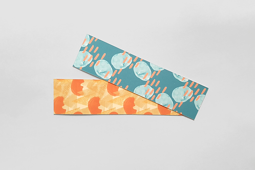 Patterned Texture Bookmarks - Orange and Blue