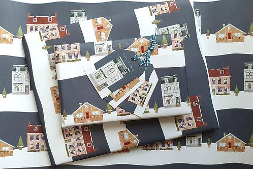 Christmas House Wrapping Set