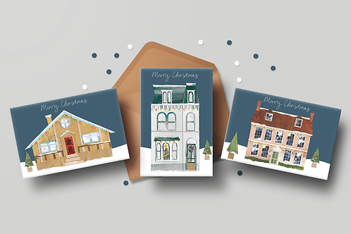 Christmas House Cards