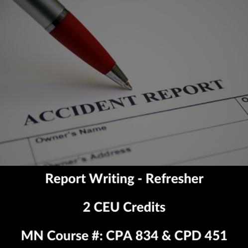 Report Writing - Refresher