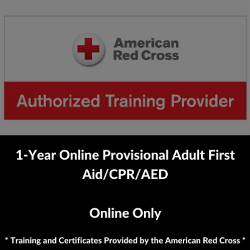 1-Year Online Provisional Adult First Aid/CPR/AED