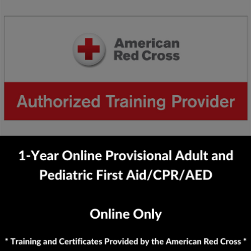 1-Year Online Provisional Adult and Pediatric First Aid/CPR/AED