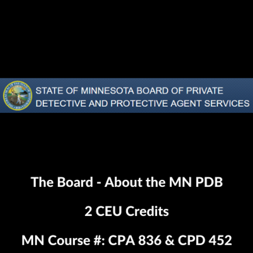 The Board - About the MN PDB