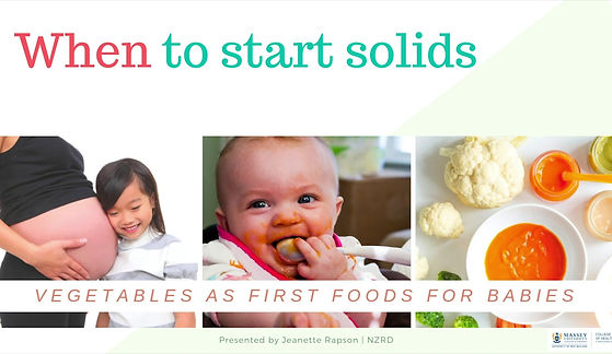 This video shows you some of the signs that baby is ready to start solids.