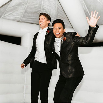 Our 2 Grooms had a blast! What a night t