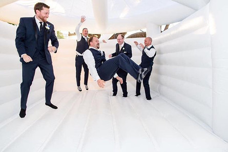 Groom and groomsmen having a blast! 💫 C