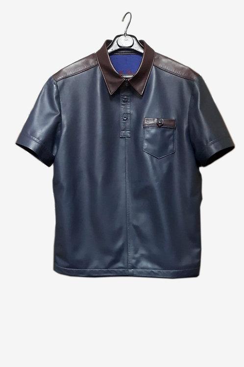 Bespoke Mixed Lambskin Leather Shirt
