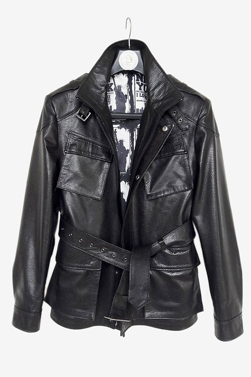 Bespoke Black Special Leather Field Jacket
