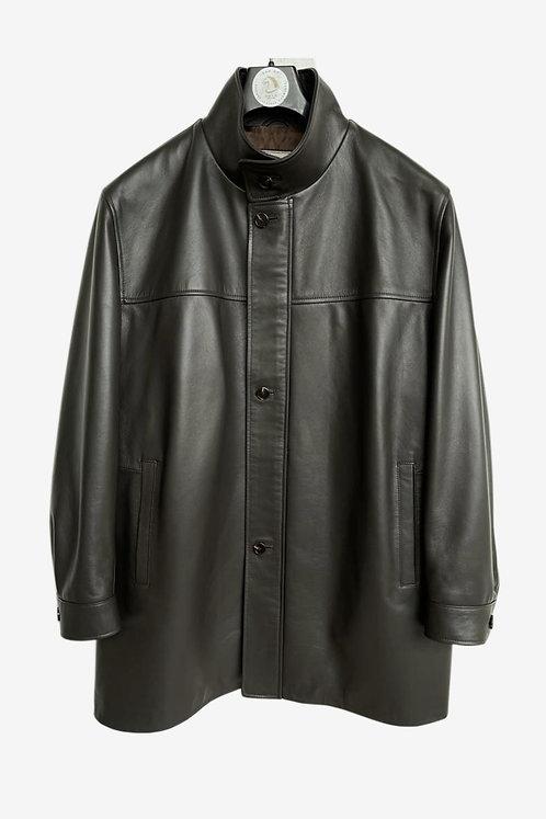 Bespoke Black Leather Jacket