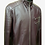 Thumbnail: Brown Quilted Leather Racer Jacket