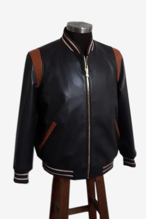 Bespoke Men's Lambskin Leather Bomber Jacket