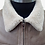 Thumbnail: Brown Leather Aviator Jacket with Borg Collar