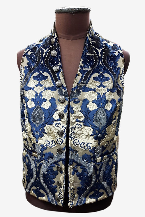 Bespoke Brocade and Leather Vest