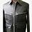 Thumbnail: Black Crocodile Leather Aviator Jacket