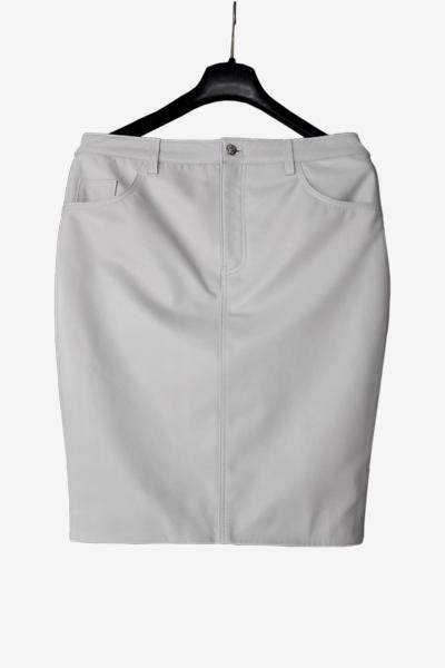 White Lambskin Bespoke Skirt