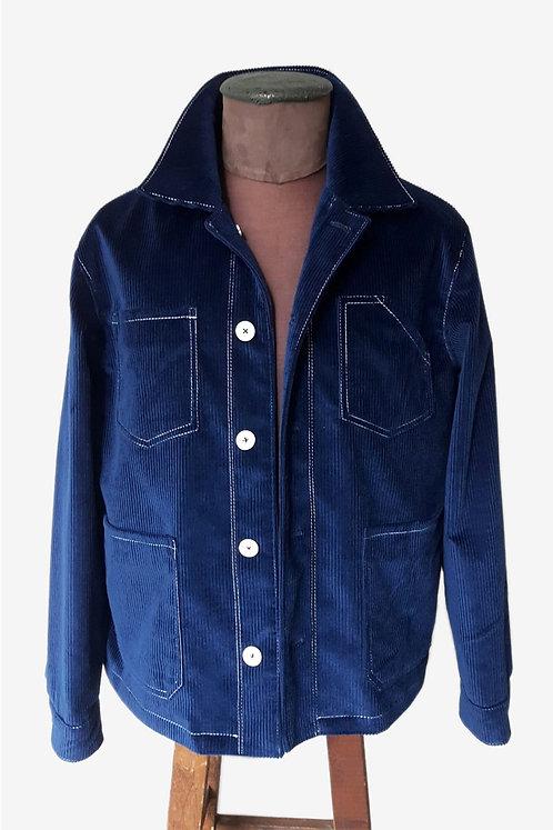 Bespoke Blue Corduroy Coat