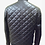 Thumbnail: Black Quilted Bomber Leather Jacket