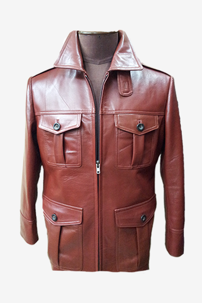 Brown Field Leather Jacket
