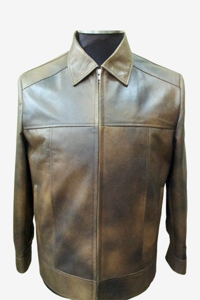 Brown Leather Blouson