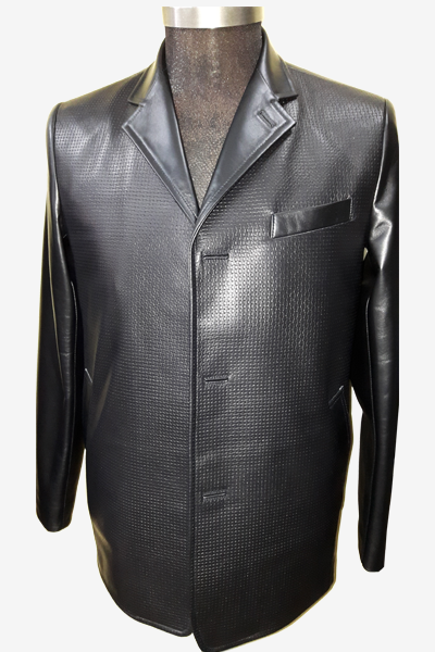Special Black Leather Blazer